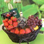 fruitmand met Gin
